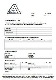 Checkliste H2 Wall